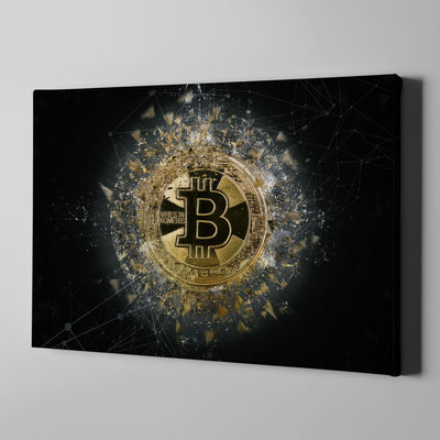 Bitcoin Vires In Numeris Wall Art - Artiful Crypto Art Collection