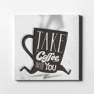 Artiful Coffee To Go Canvas Wall Art