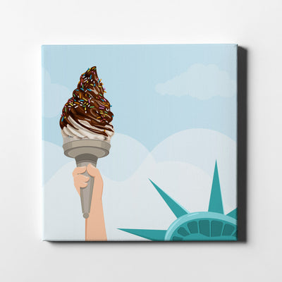 Liberty Ice Cream Canvas Wall Art - Artiful Art Store - New York Canvas