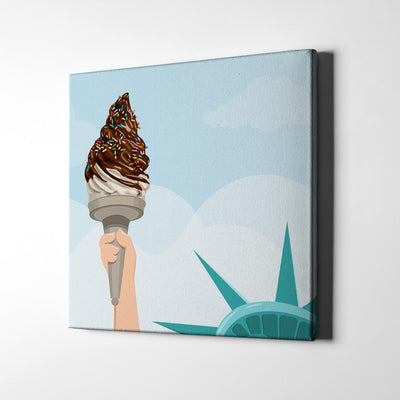Liberty Ice Cream Canvas Art - Artiful Art Store - NYC Canvas