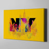Artiful Welcome to New York Canvas Wall Art - Manhattan - NY - Yellow art