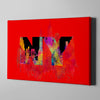 Artiful Welcome to New York Canvas Wall Art - Red - NY - CIty art