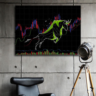 Bull markets Canvas Wall Art - Artiful Success Art Collection