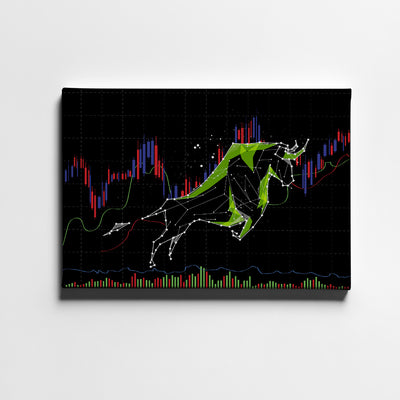 Bull markets Canvas Wall Art - Artiful Financial Art Collection