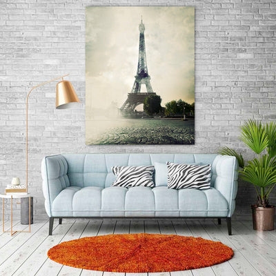 The Eiffel Tower Canvas Art - Artiful Paris Collection