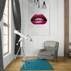 Artiful Red Lips on Marble White Canvas Wall art, Lips collection