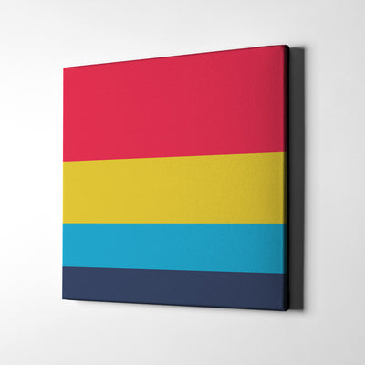 A Fantastic Day Canvas Wall Art - Artiful Color Palette Art Collection