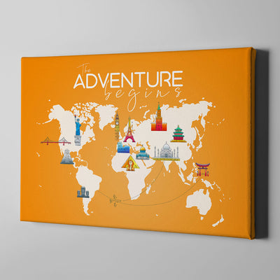 Adventure begins Canvas Art - Artiful Travel Art Collections