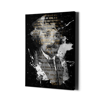 Artiful Albert Einstein canvas art with quotes