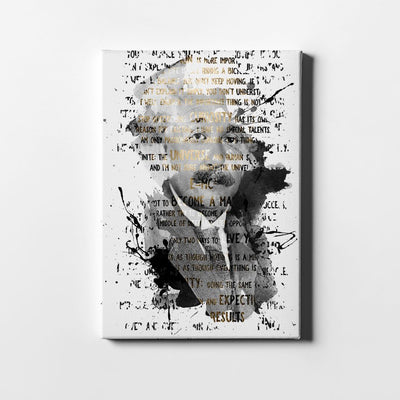 Artiful Albert Einstein quotes art on white canvas