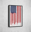 Artiful United States Flag Framed Canvas Art
