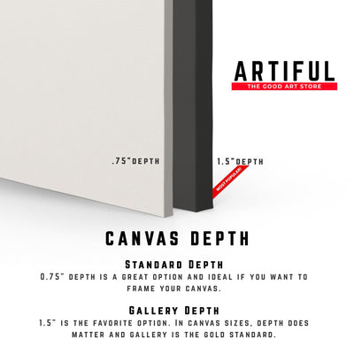 Artiful canvas depths. Gallery and regular. Beautiful Art for every wall.