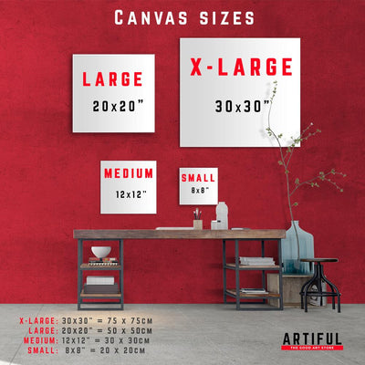 Artiful art canvas sizes - Square wall art