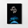 Artiful Astronaut Holding a Beer Canvas Wall Art