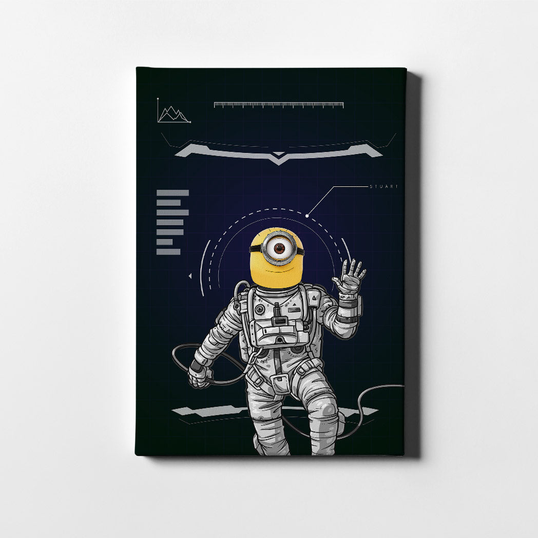 Minion Astronaut Canvas Art