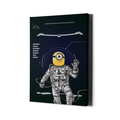 Artiful Minion Astronaut Canvas wall art