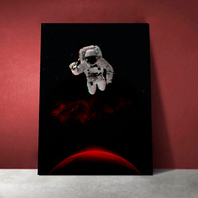 Artiful Astronaut on Mars with a Beer Wall Art home decor