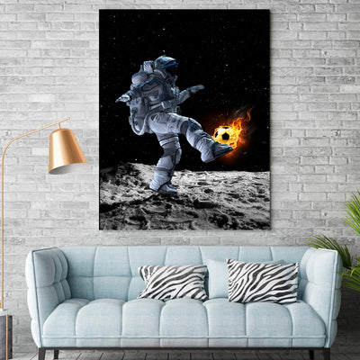 Astronaut Playing Football