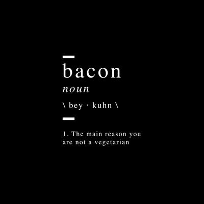 Bacon definition Canvas Art - Artiful Definitions Collection