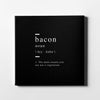 Bacon definition Canvas Art - Artiful Definition Collection
