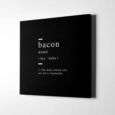 Bacon definition Canvas wall Art - Artiful Definition Collection
