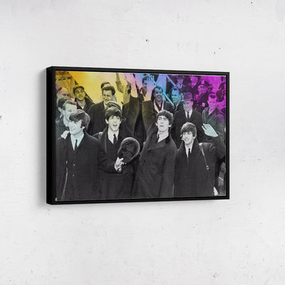 Artiful The Beatles Canvas Wall art, framed
