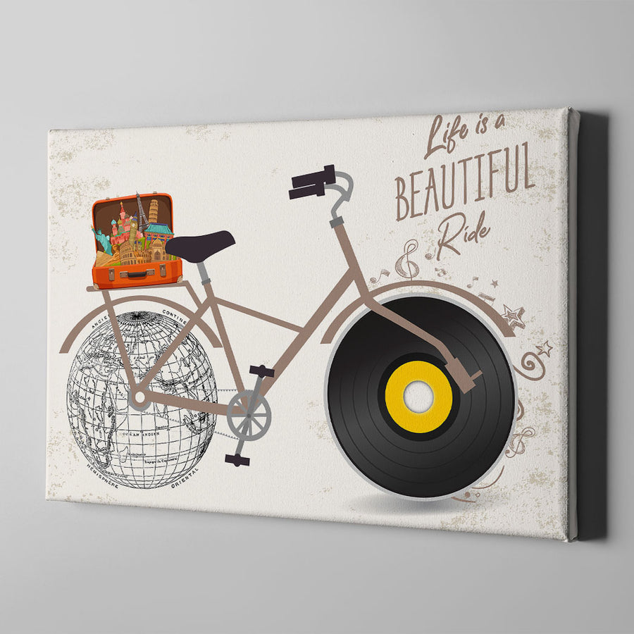Life Is A Beautiful Ride Canvas Wall Art - Artiful Travel Art Collections