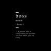 Boss definition Canvas Art - Artiful Definition Collection - Funny art