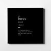 Boss definition Canvas Art - Artiful Definition Collection