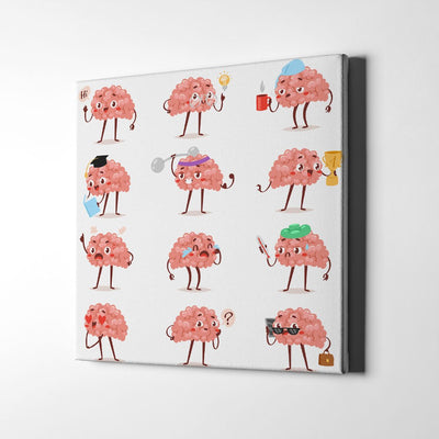 Our Brain Emotions Canvas Art by Artiful - funny art