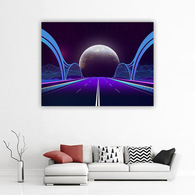 Artiful Bridge To Space Canvas Wall Art. Office art