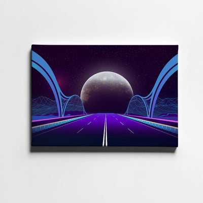 Artiful Bridge To Space Canvas Wall Art