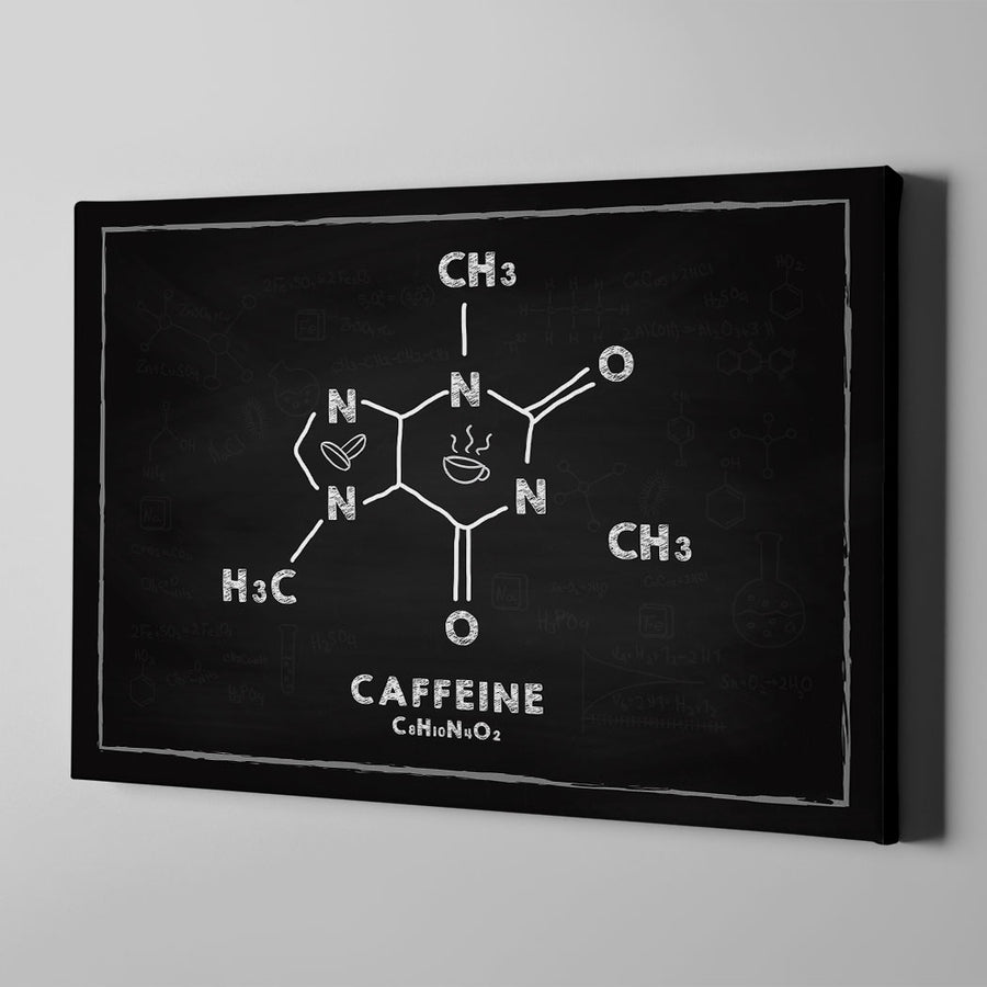 Caffeine formula Canvas Wall Art - Artiful Coffee Art Collections
