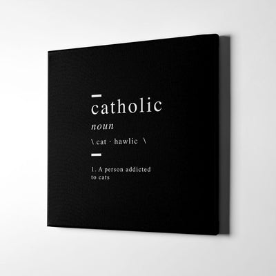 Catholic definition Canvas Wall Art - Artiful Definition Collection