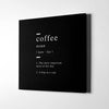 Coffee definition Canvas Wall Art - Artiful Definition Collection