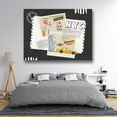 Collage New York Canvas Art home decor