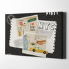 Collage New York Canvas Wall Art