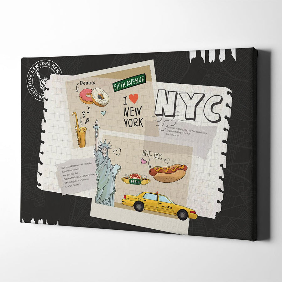 Collage New York Canvas Art