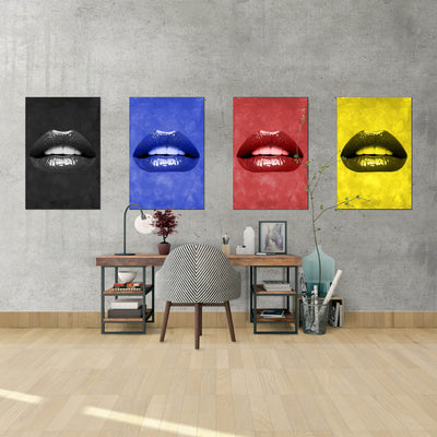 Artiful Black Lips inspirational home or office wall art