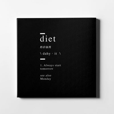 Diet definition Canvas Art - Artiful Definition Collection