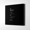 Diet definition Canvas Wall Art - Artiful Definition Collection