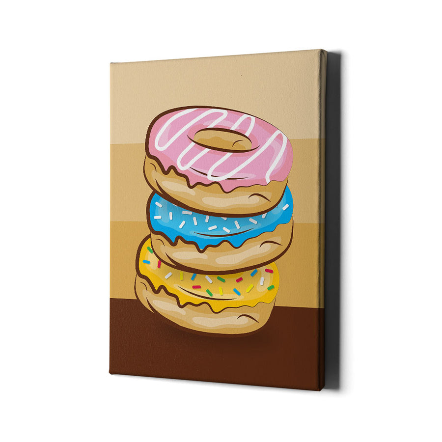 Donut Palette Canvas Wall Art
