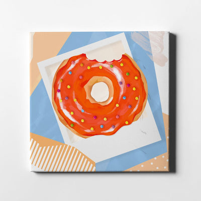 Abstract Doughnut Polaroid Canvas Art - By Artiful The Good Art Store