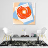 Abstract Doughnut Polaroid Canvas Art - By Artiful home or office decor