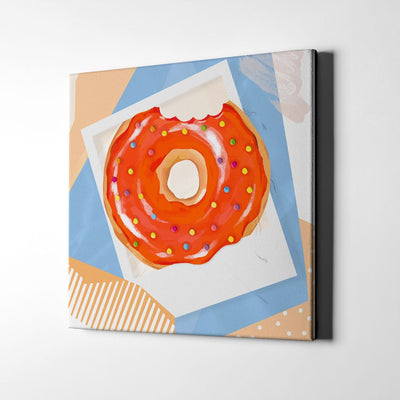 Abstract Doughnut Polaroid Canvas Wall Art - By Artiful The Good Art Store