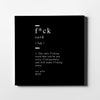 F*ck definition Canvas Wall Art - Artiful Definition Collection