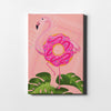 Flamingo Donut Canvas Art - Artiful Original Art Collection