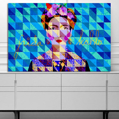 Artiful Frida Kahlo Blue Canvas, Wall Art only at artiful.org