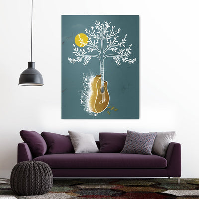 Guitar tree Canvas Wall Art - Music Art Collection - Artiful Home Decor