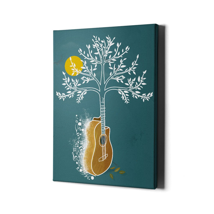 Guitar tree Canvas Art - Music Art Collection - Artiful Art Store